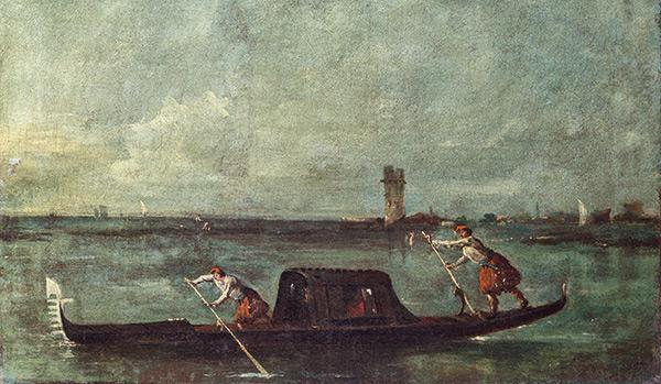 Peinture de gondole de Venise