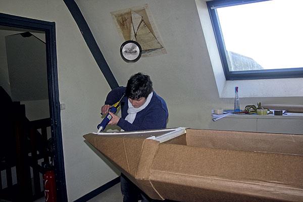 bateau en carton, Chasse-Marée