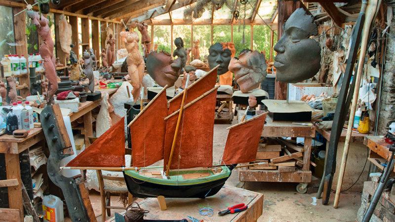 Atelier de l'artiste Philippe Morel