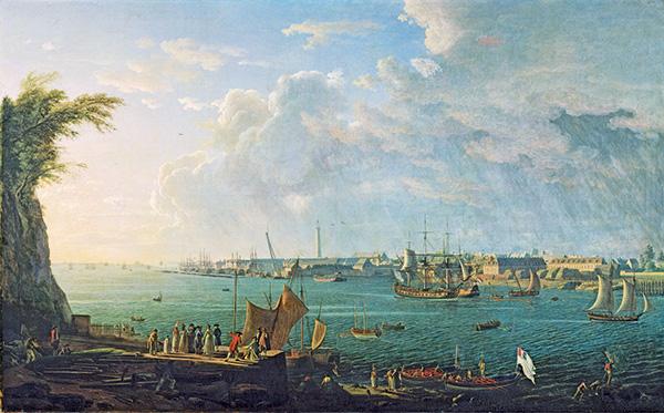 peinture du port de Lorient