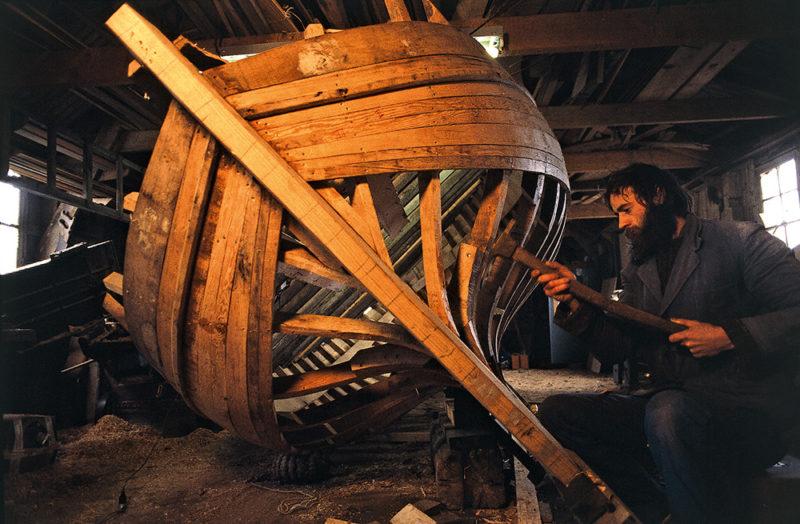 Construction d'une charpente de bateau
