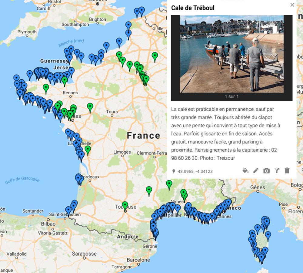 Communauté Chasse-Marée, carte de mise à l'eau