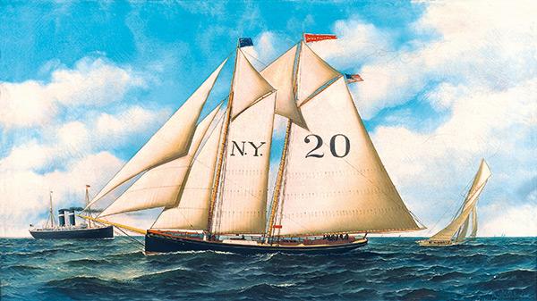 Peinture Joseph Pulitzer goélette New York