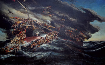 peinture naufrage