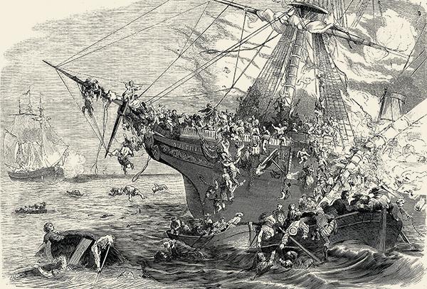 Tableau naufrage bateau