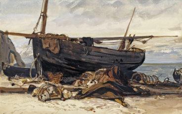 peinture d'une barque bretonne