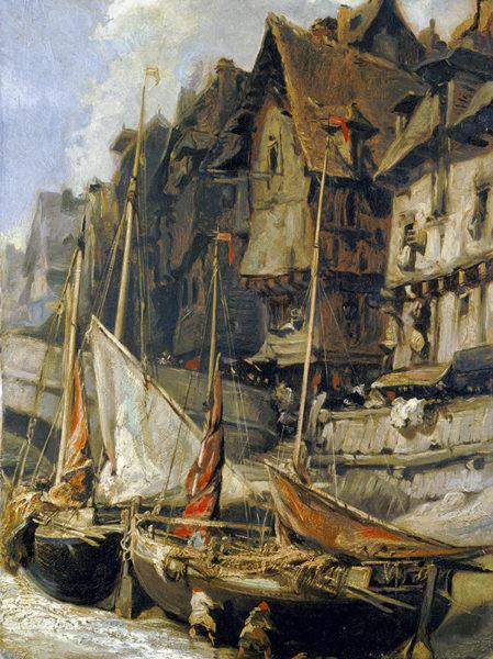 peinture de bateaux au port