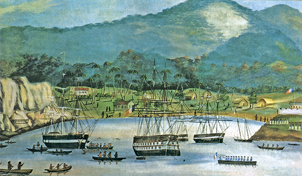 peinture de la baie de Huku Hiva