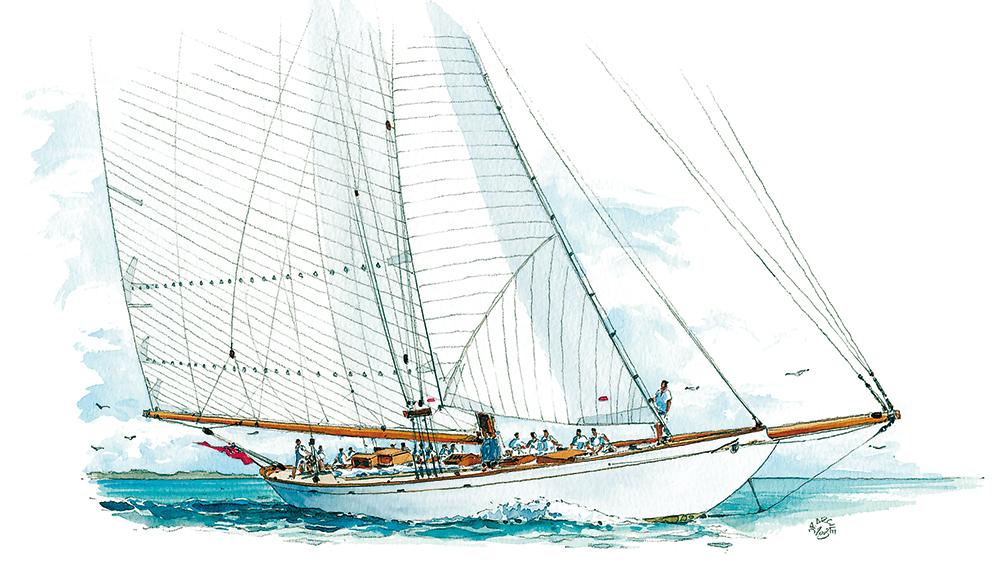 aquarelle voilier
