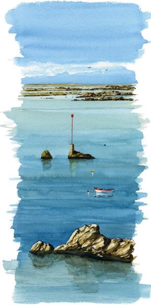 aquarelle mer Bretagne