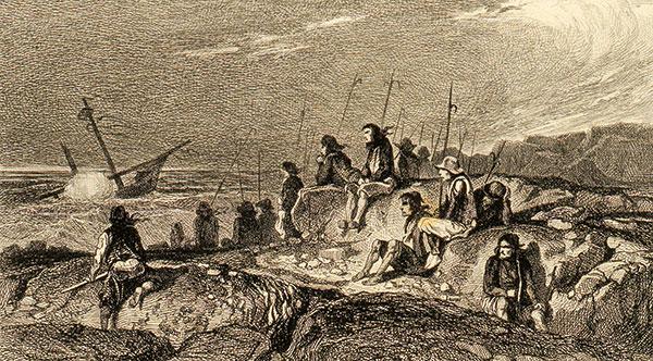 tableau du pillage d'un bateau