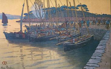 peinture d'un ponton
