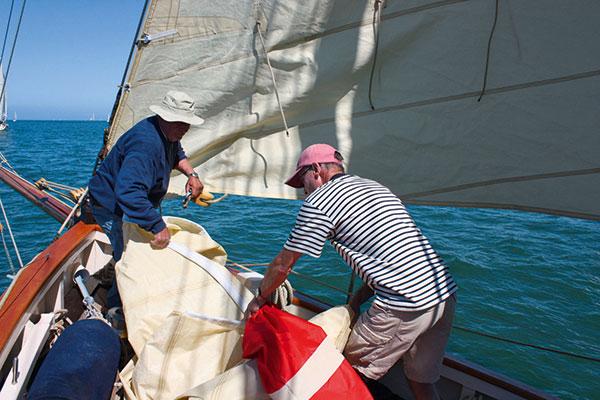manœuvre à bord d'un bateau à voile
