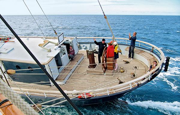 arrière d'un bateau