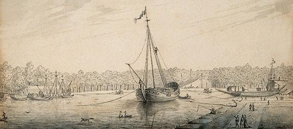 dessin de grand canal Versailles
