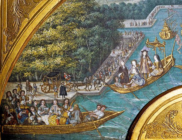 peinture du roi du France sur bassin