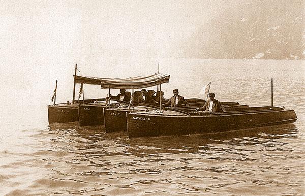 bateaux à moteur lac annecy