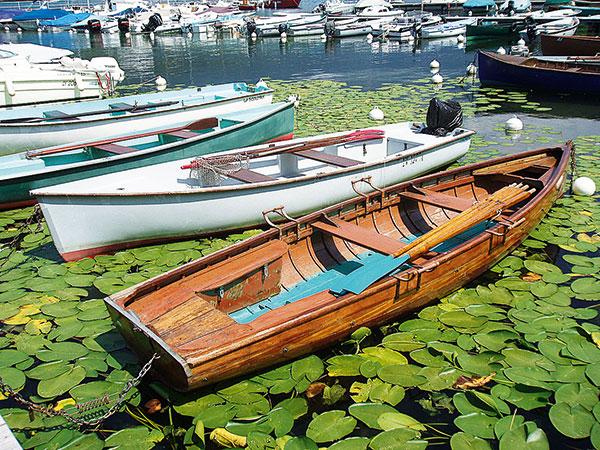 bateau en bois nénuphare