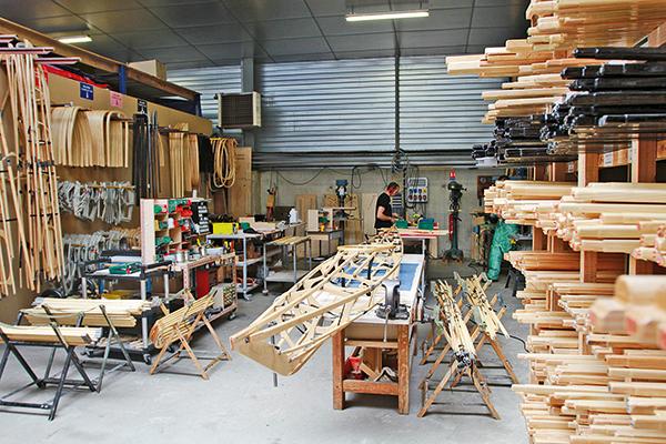 vue de l'usine de kayak