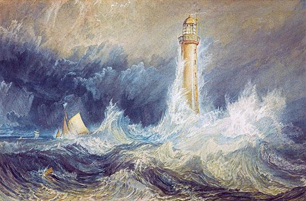 peinture phare en tempête