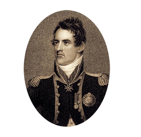 portrait de James Lucas Léo, lieutenant britannique au 19ème siècle