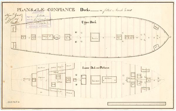 Plans de la corvette Confiance