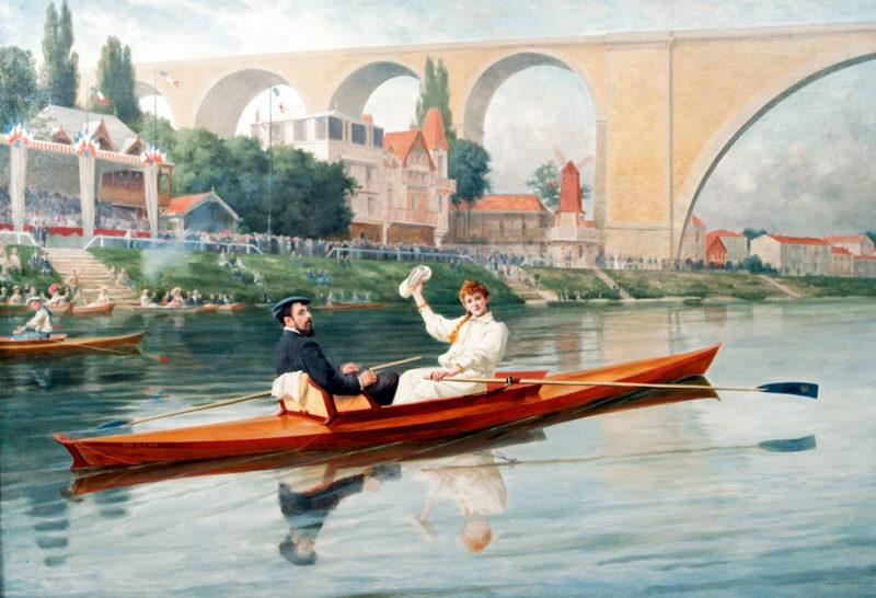 canotage, canotage Seine, canoë Seine, bateau amphidrome