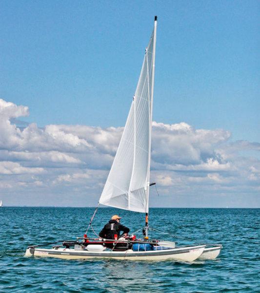 Randonnée en bateau, Navigation îles Morbihan, Voile-aviron Bretagne