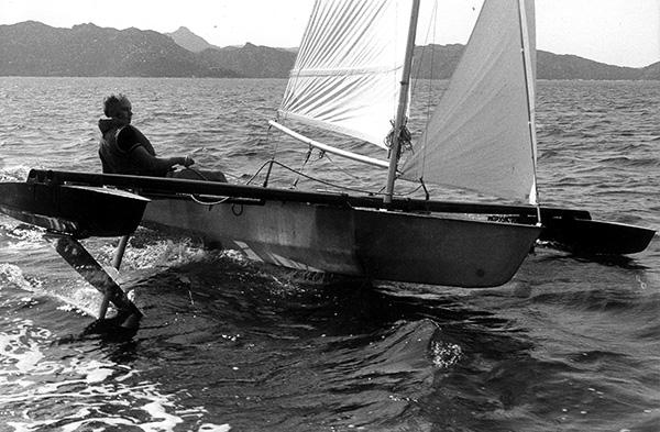 test premier foils sur bateau