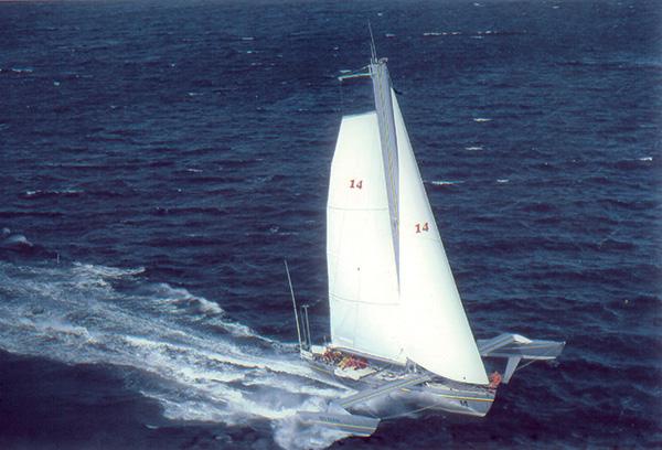 bateau foil en navigation