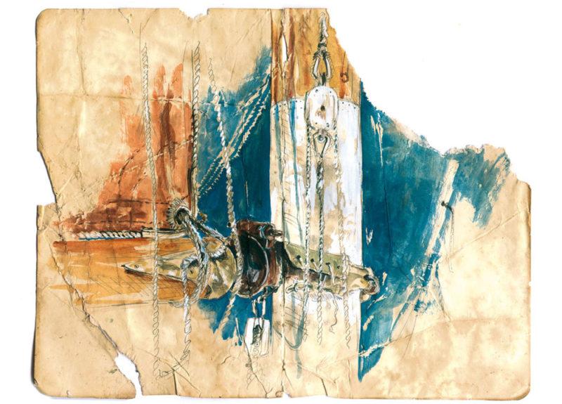 dessin du vit-de-mulet du sloup Babar, aujourd'hui armé par Sophie Ladame.