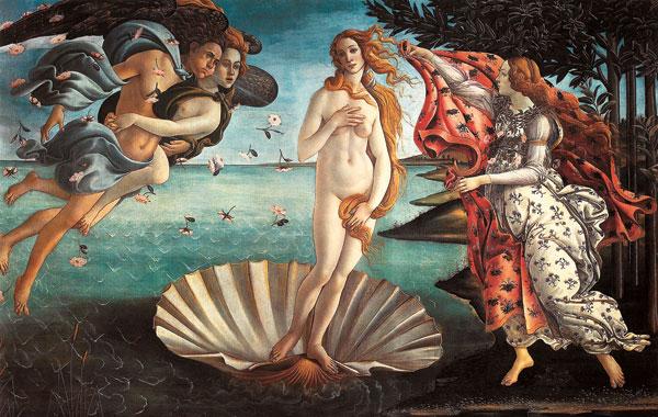 La plus belle surfeuse de la Renaissance, sur le plus délicat des vaisseaux…