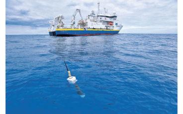 Mesures de salinité et de température avec une sonde Argo.
