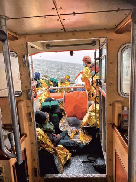 début avril2020, vingt-trois personnes sont secourues par les sauveteurs.